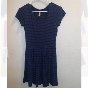 Dark Blue Striped Dress